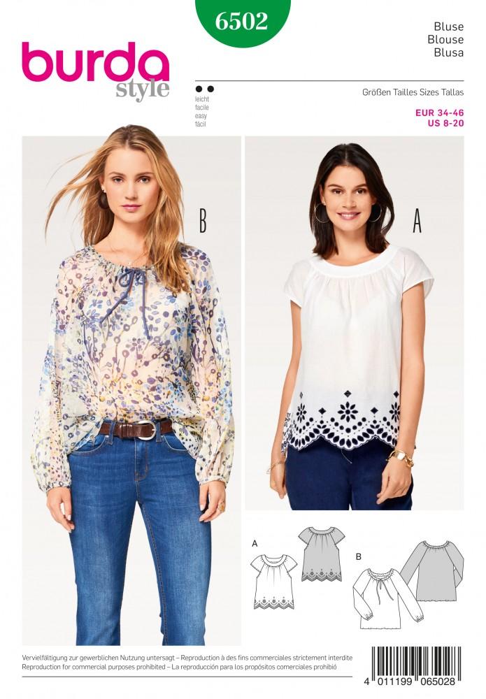 Molto CARTAMODELLI: BURDA - TOP CAMICETTE SHIRT - Mercerie Online Shop  SI37